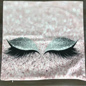 Sparkly Eyes Diva Throw Pillow Decorative Cover